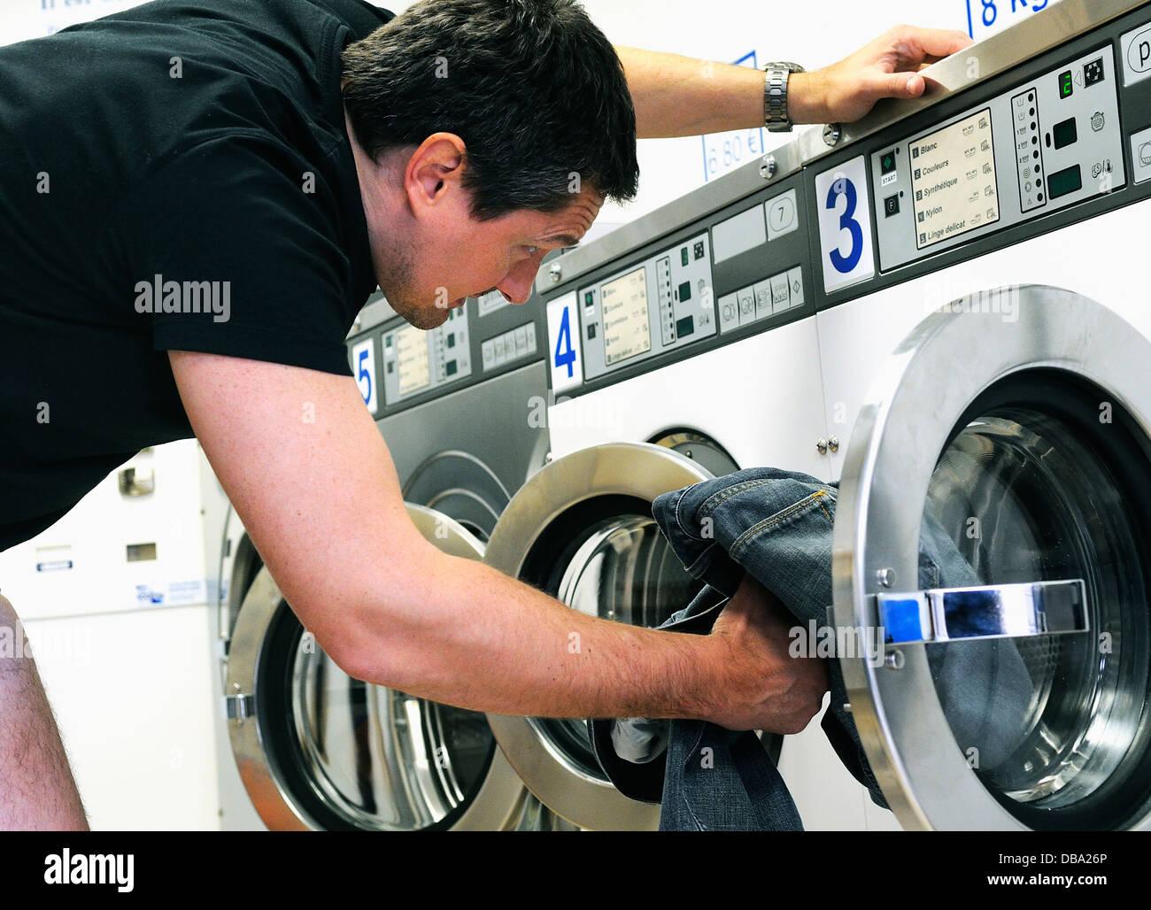 landromat service - Stock Image