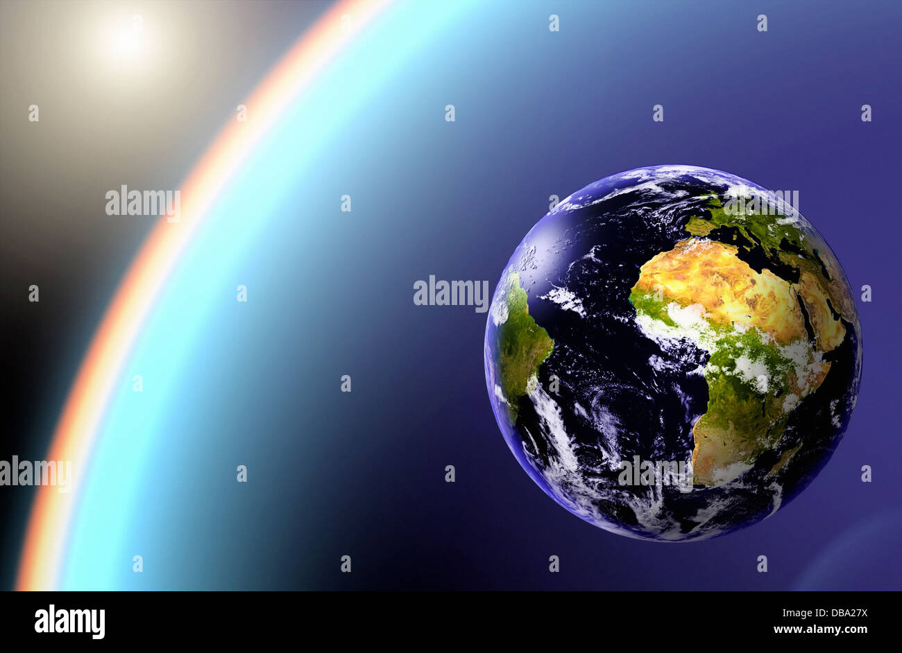 Earthlight >> Earth Globe With Earthlight In Black Cosmos Stock Photo 58613630