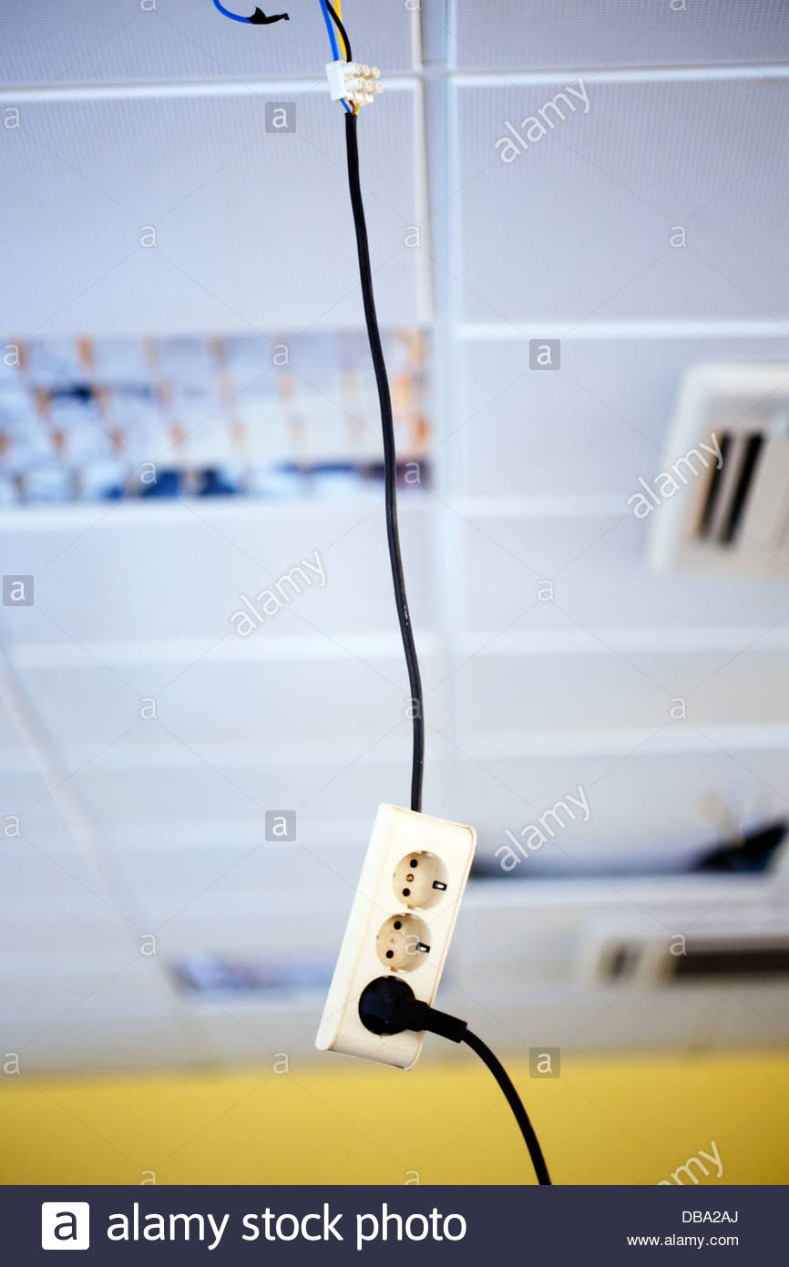 Wires In The Ceiling Of A Room Stock Photo 58613706 Alamy When You Go To Wire It Or Wall Socket Wiring