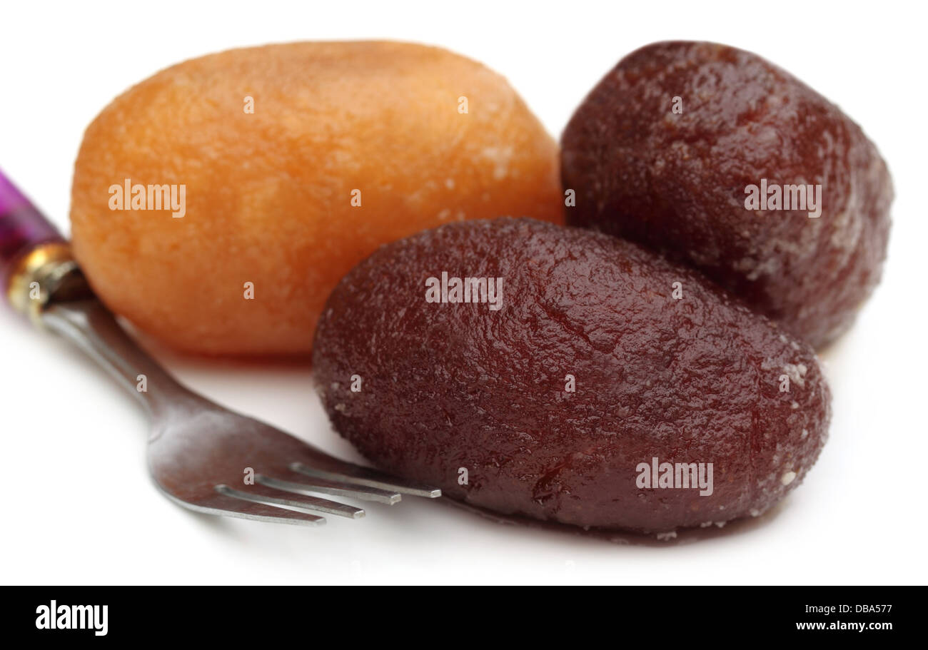 Sweetmeat with spoon - Stock Image