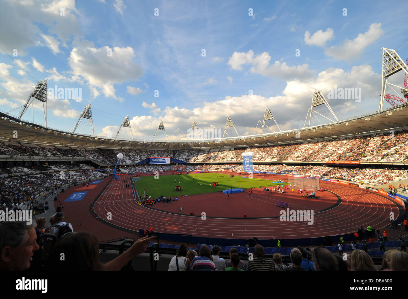 London, UK. 26th July 2013. The Queen Elizabeth Stadium is full before the at the London Anniversary Games Diamond - Stock Image