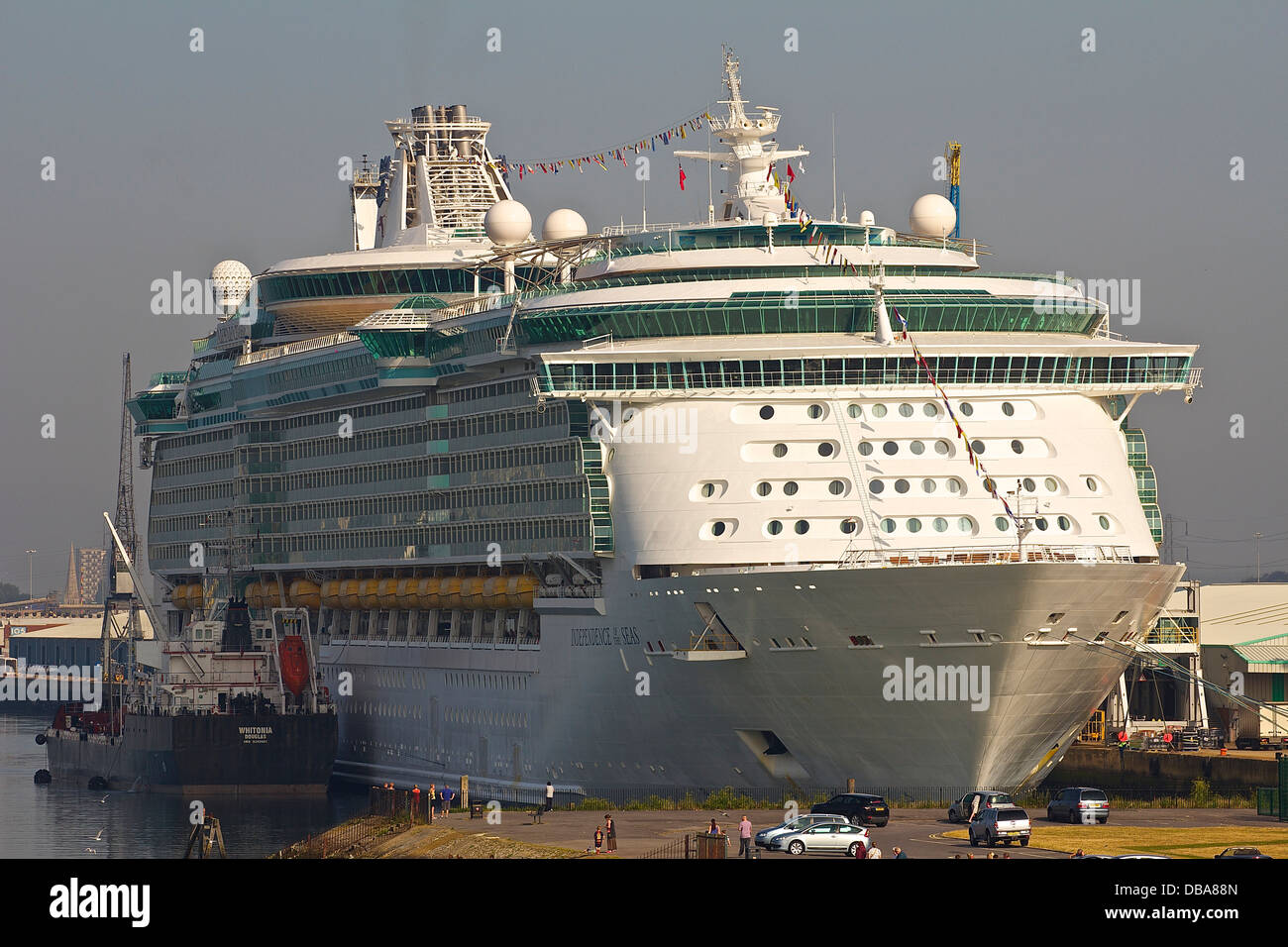 MS Independence of the Seas is a Freedom-class cruise ship operated by the Royal Caribbean cruise line that entered - Stock Image