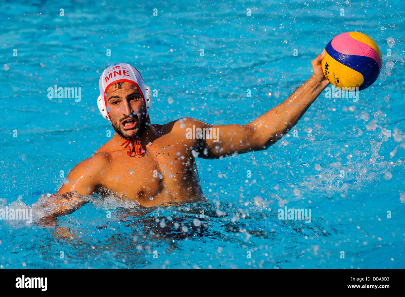 Barcelona, Spain. 26th July, 2013. in action during the Mens Group A Preliminary Round Water Polo match between - Stock Image