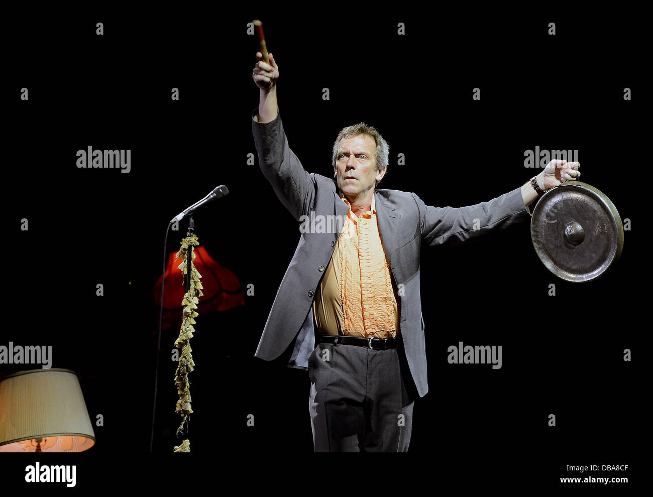 Prague, Czech Republic. 26th July 2013. British actor Hugh Laurie with the Copper Bottom Band performs live in Prague, - Stock Image