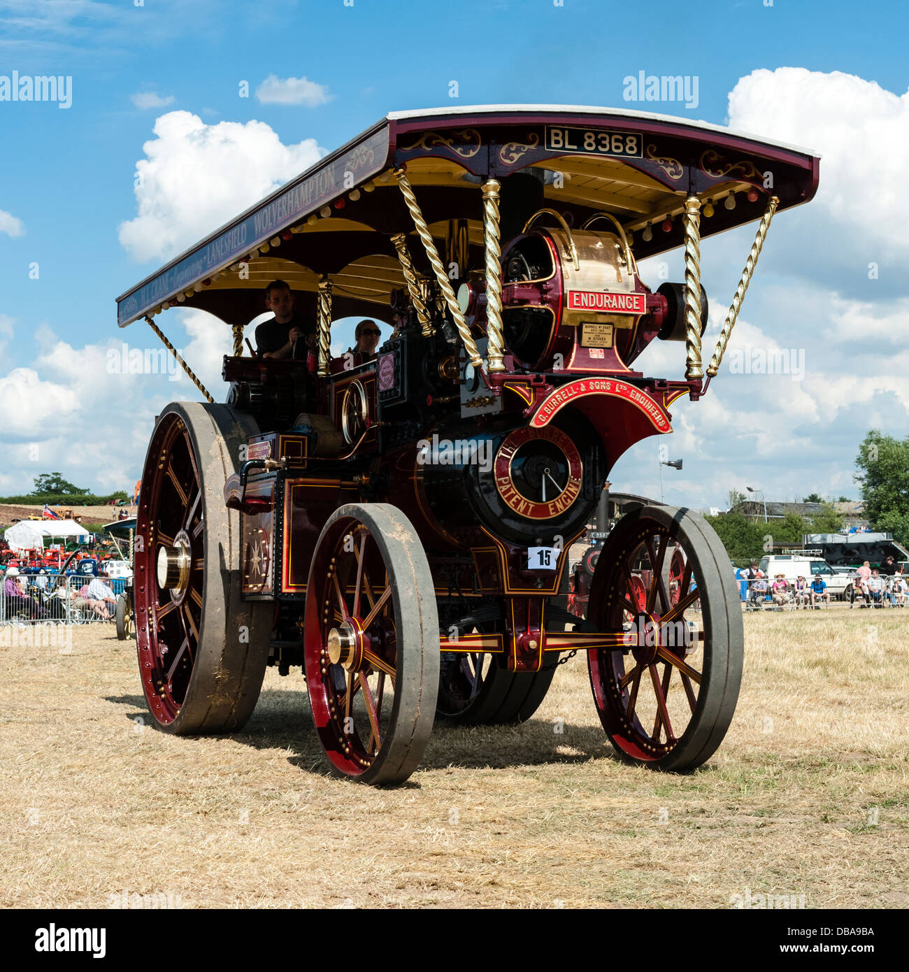 Burrell traction engine BL 8368 Endurance at Welland steam rally, near the Malvern Hills, Worcestershire, UK. - Stock Image