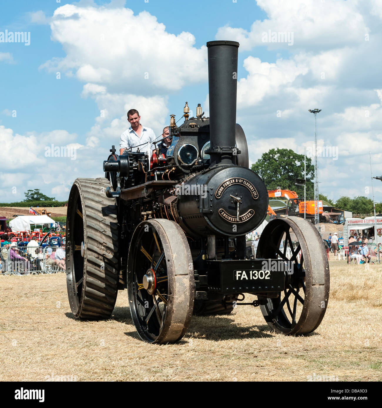 Fowler traction engine FA 1302 at Welland steam rally, near the Malvern Hills, Worcestershire, UK. - Stock Image