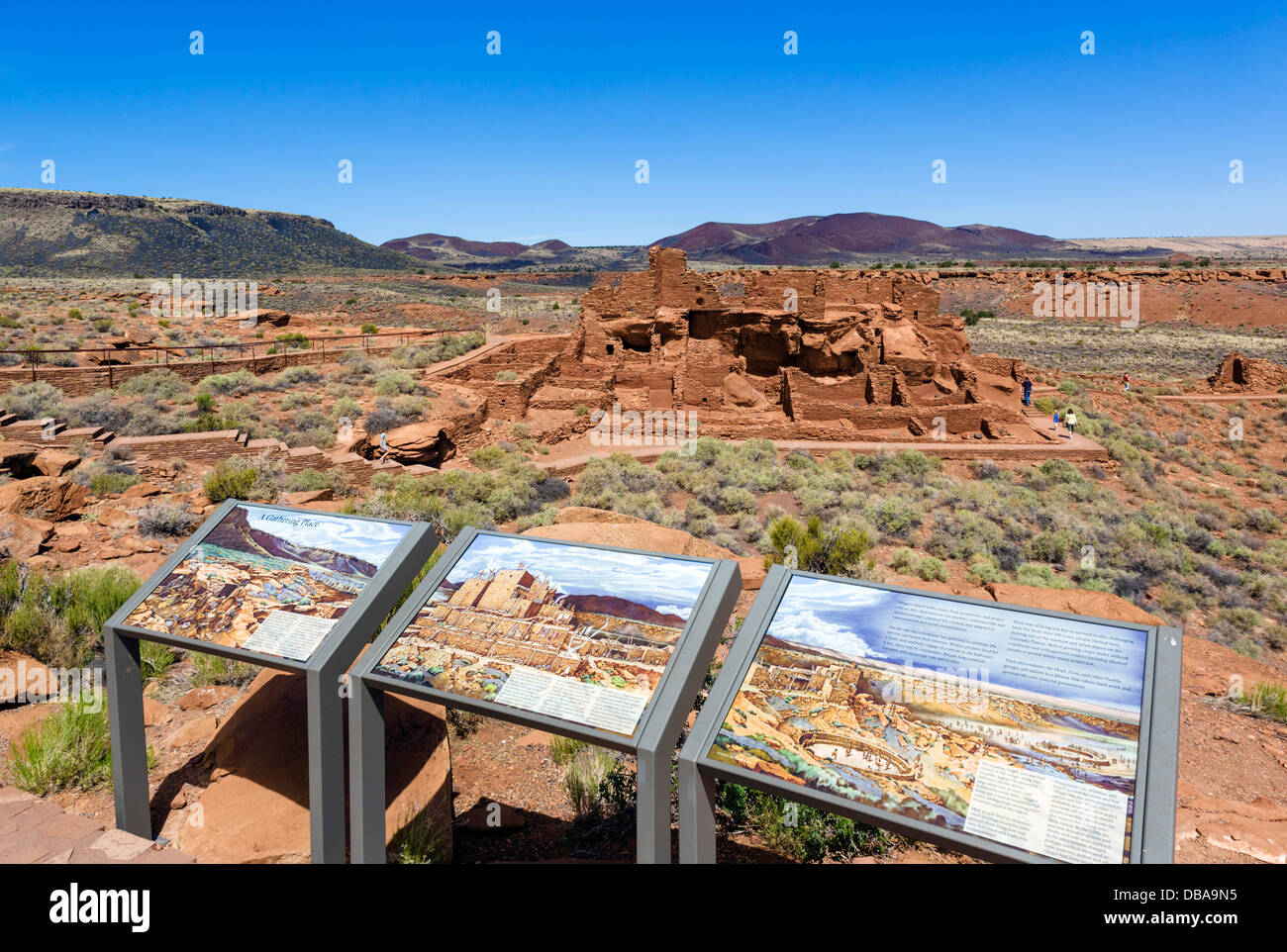 The Wupatki Pueblo, pueblo indian ruins in Wupatki National Monument, near Flagstaff, Arizona, USA - Stock Image