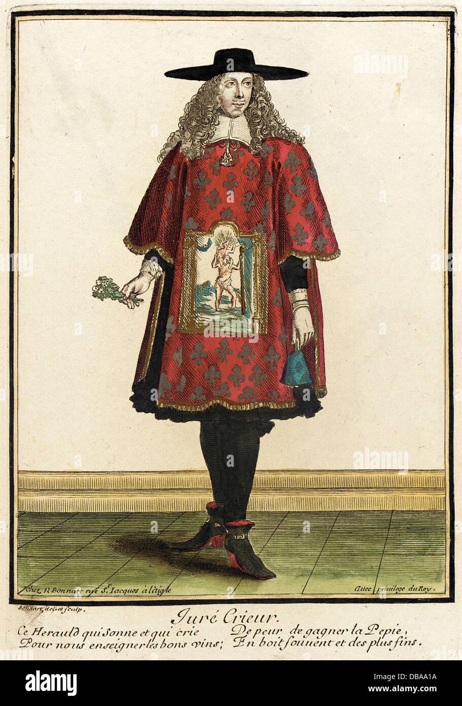 Recueil des modes de la cour de France, 'Jure Crieur' M.2002.57.147 - Stock Image