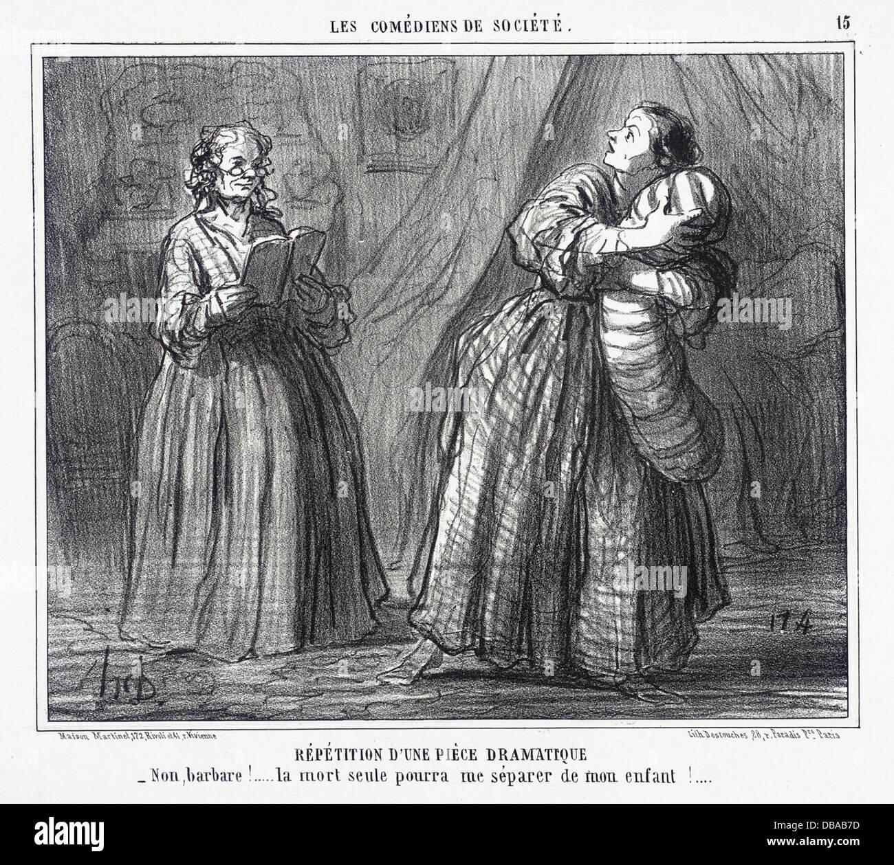 Repetition d'une piece dramatique M.91.82.80 - Stock Image