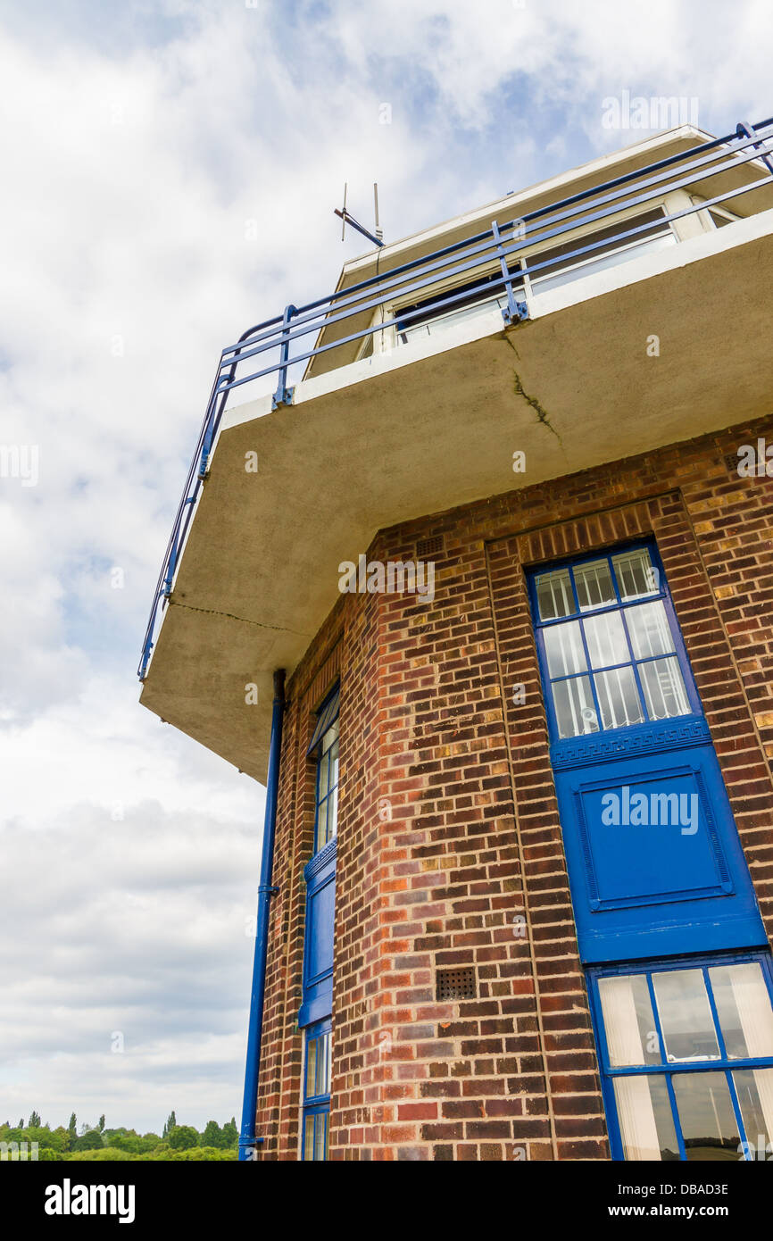Control Tower at City Airport, formerly Barton Aerodrome in Eccles, Manchester. - Stock Image