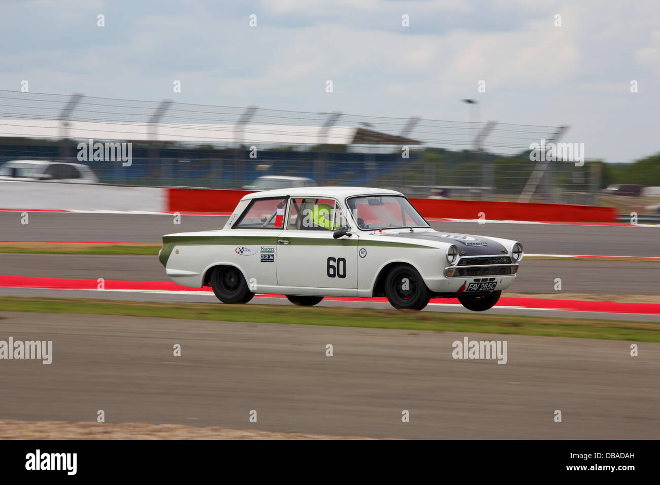 Silverstone, Northants, UK. 26th July, 2013. Silverstone Classic 2013 - Friday Qualifying for Trans-Atlantic Touring Stock Photo