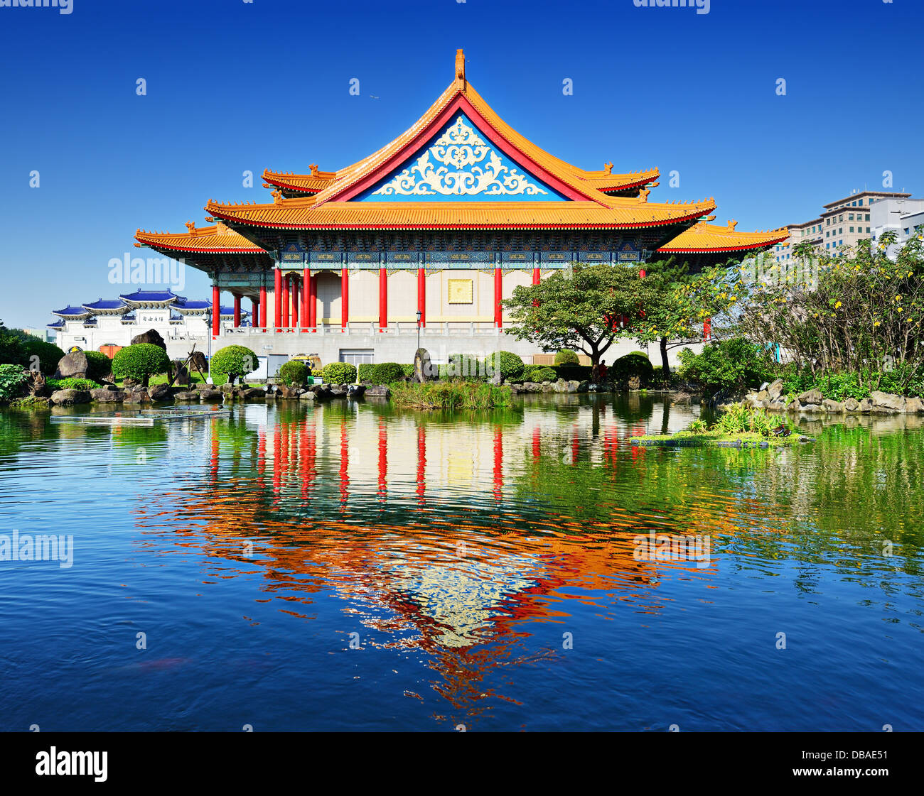 National Concert Hall of Taiwan in Freedom Square, Taipei, Taiwan. - Stock Image