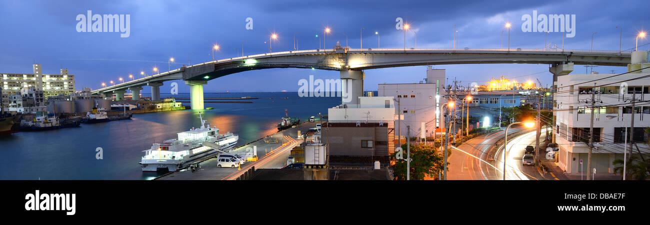 Tomari Bridge in Naha, Okinawa, Japan. - Stock Image
