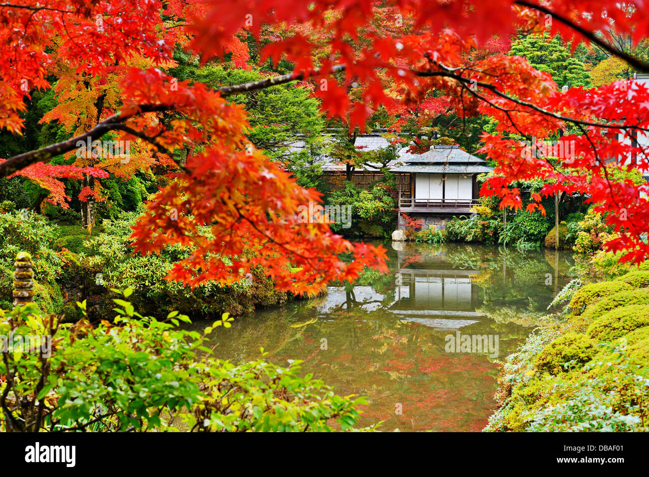 Japanese garden in Nikko, Japan. - Stock Image