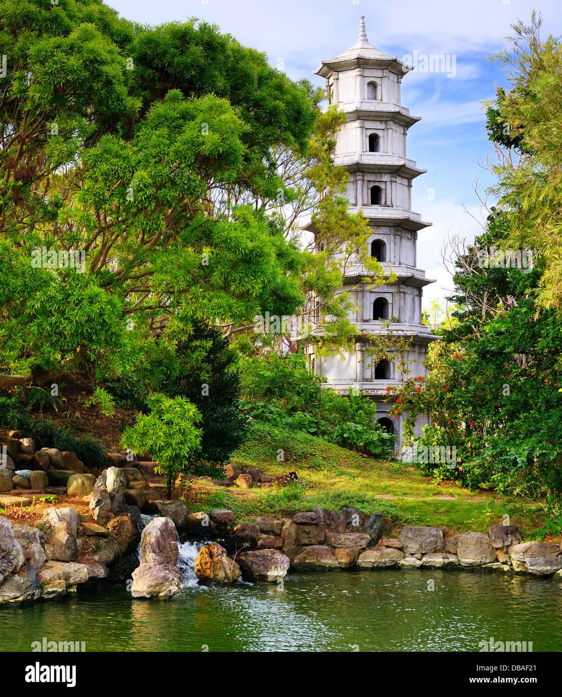 Fukushuen Garden in Naha, Okinawa, Japan. - Stock Image