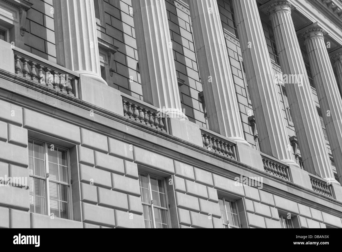 Pillars of Law - Stock Image
