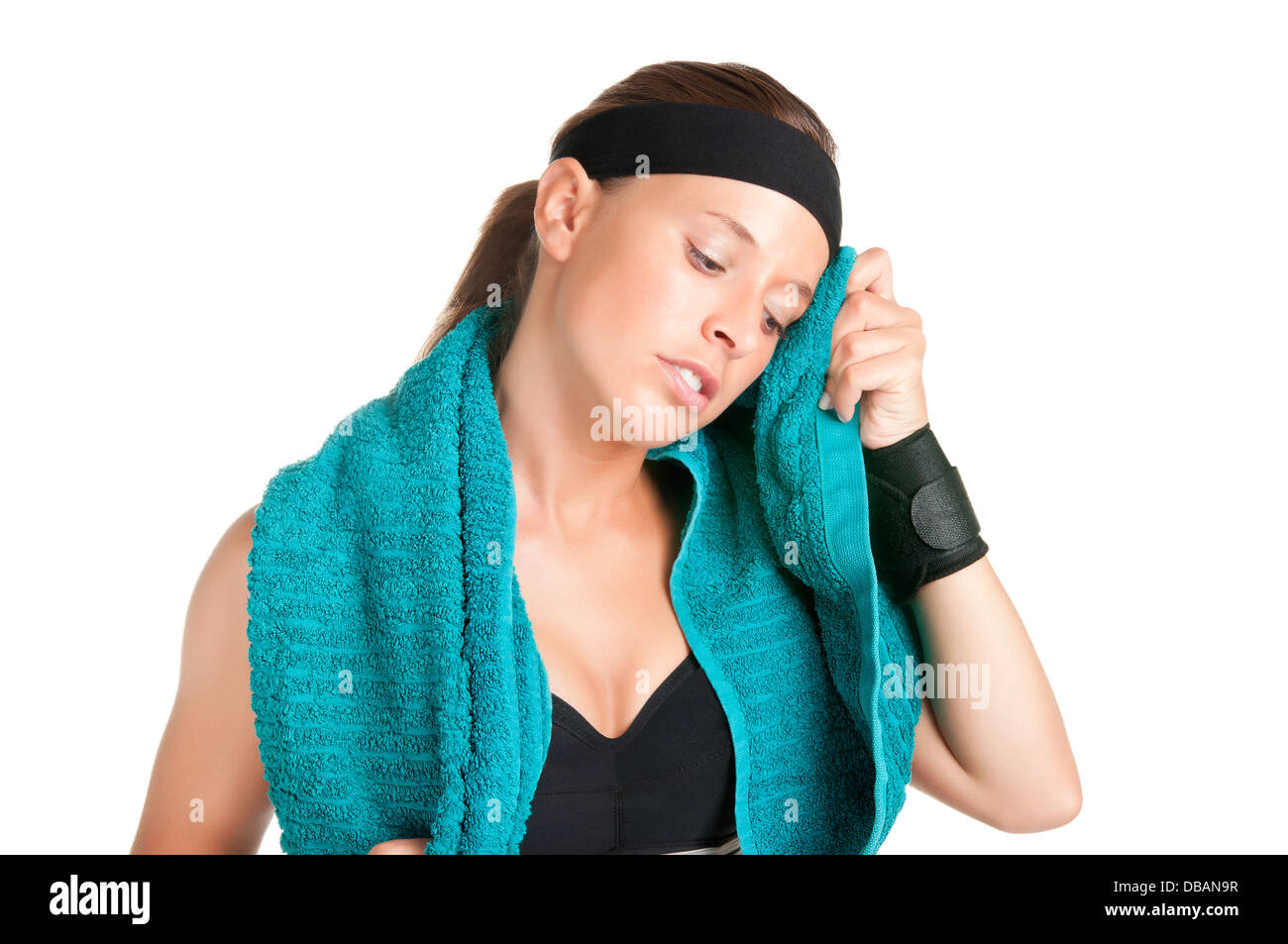 Woman Resting After Workout - Stock Image