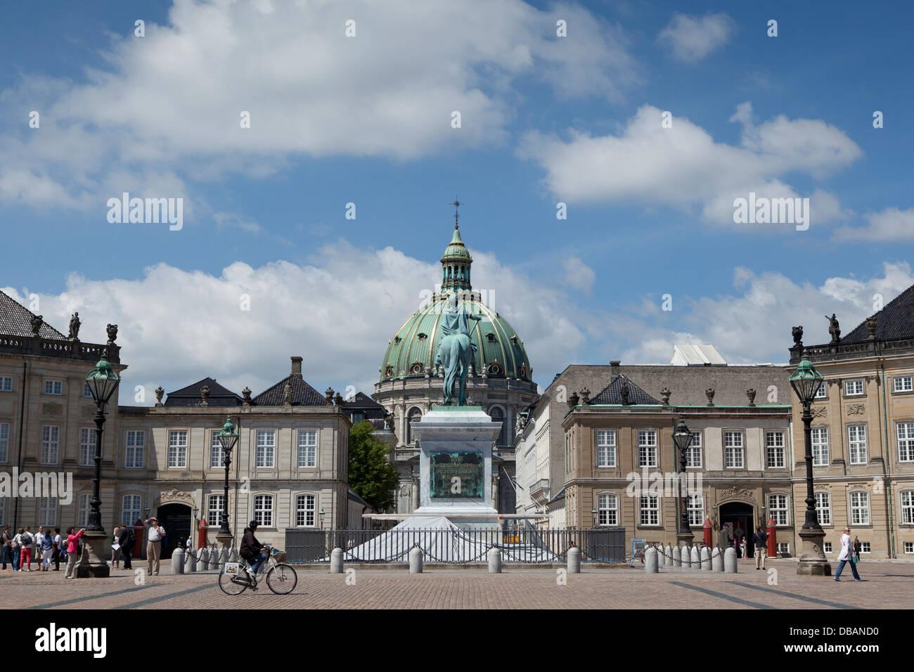 Amalienborg and Frederikskirken in Copenhagen - Stock Image