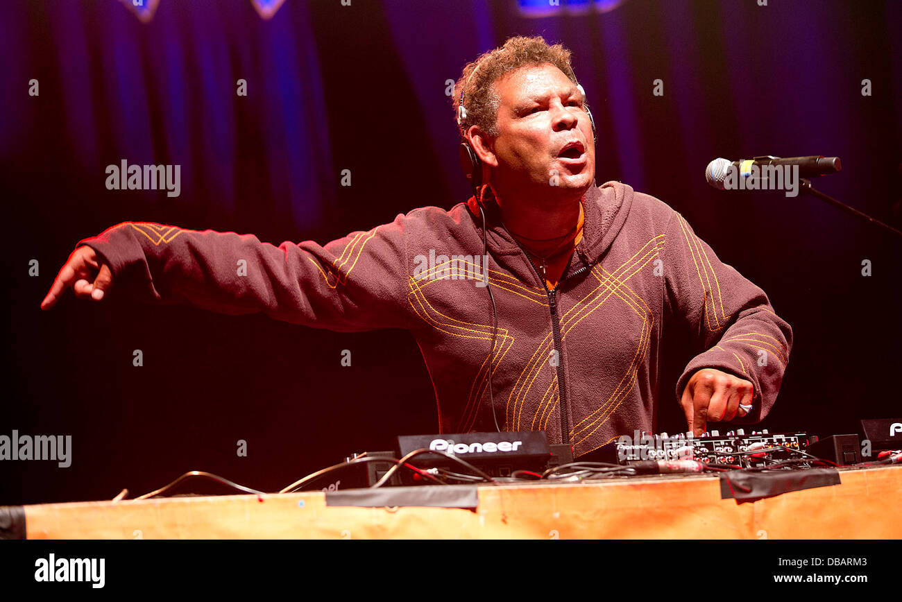 Malmesbury, Wiltshire, UK. 26th July 2013. BBC 6Music DJ Craig Charles performs at WOMAD festival in Charlton Park - Stock Image