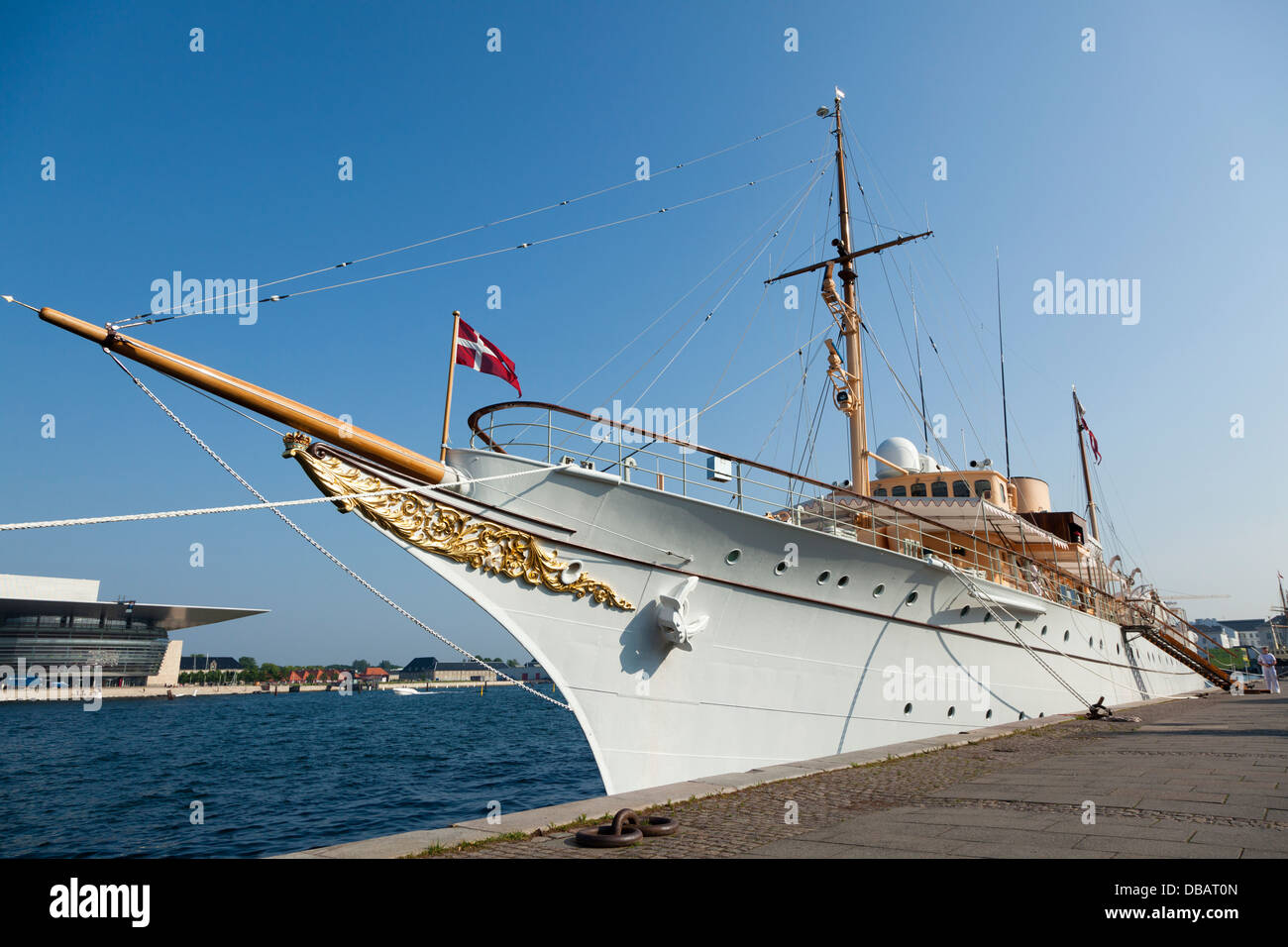 Royal yacht in Copenhagen - Stock Image