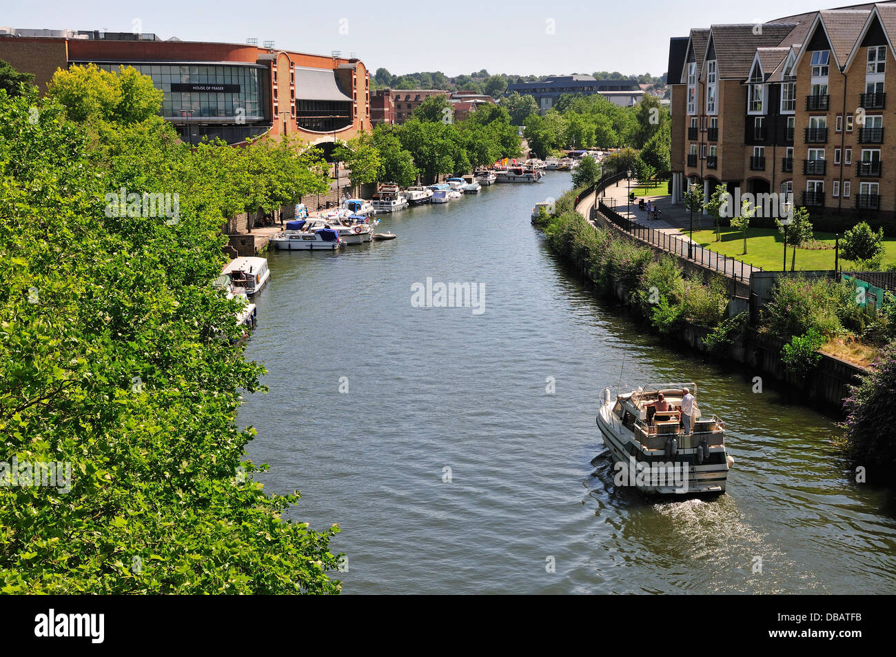 Maidstone, Kent, England, UK. River Medway in the town centre. - Stock Image