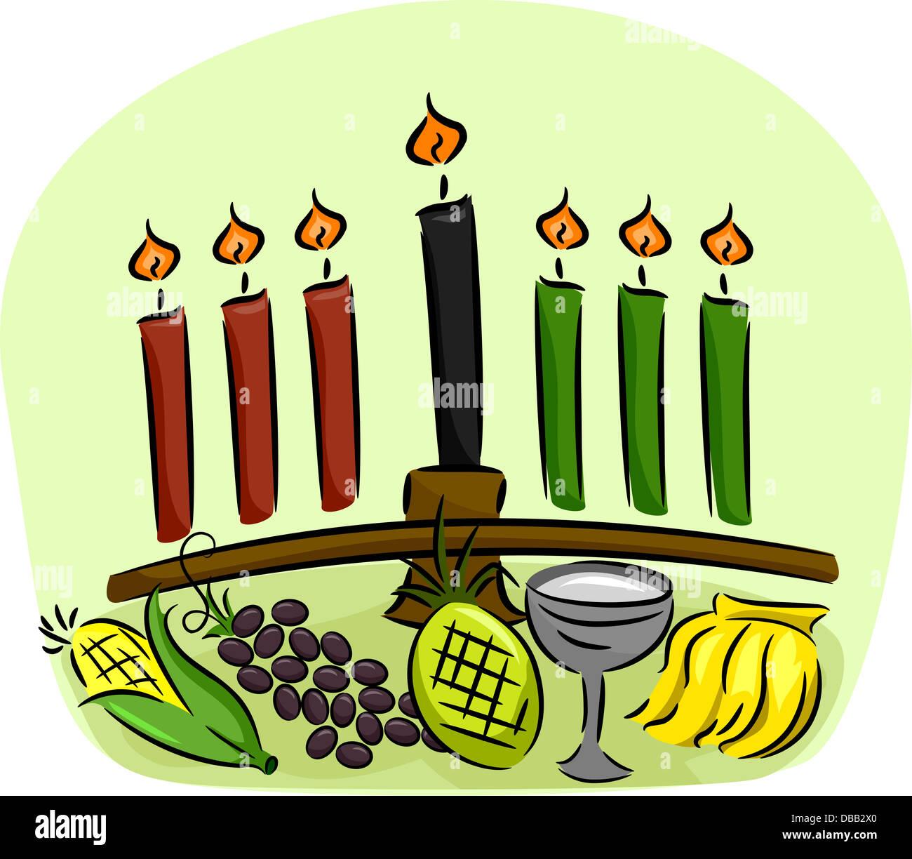 Illustration Of Kwanzaa Symbols Stock Photo 58636088 Alamy