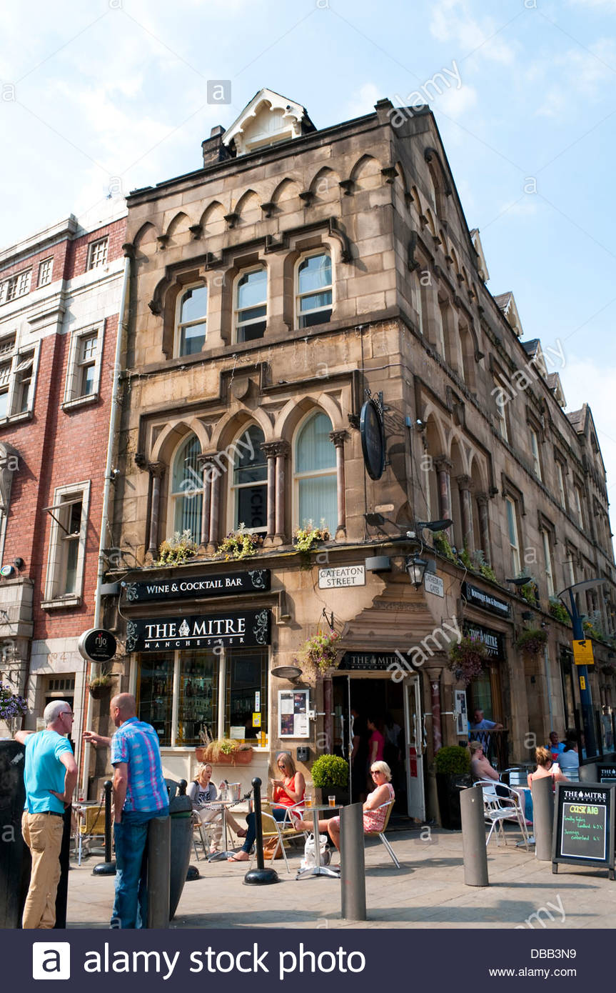 The Mitre Wine and Cocktail Bar, Manchester, UK Stock Photo