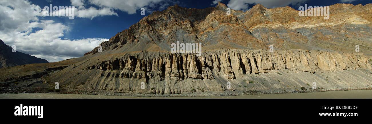crevasses into the Himalaya - Stock Image