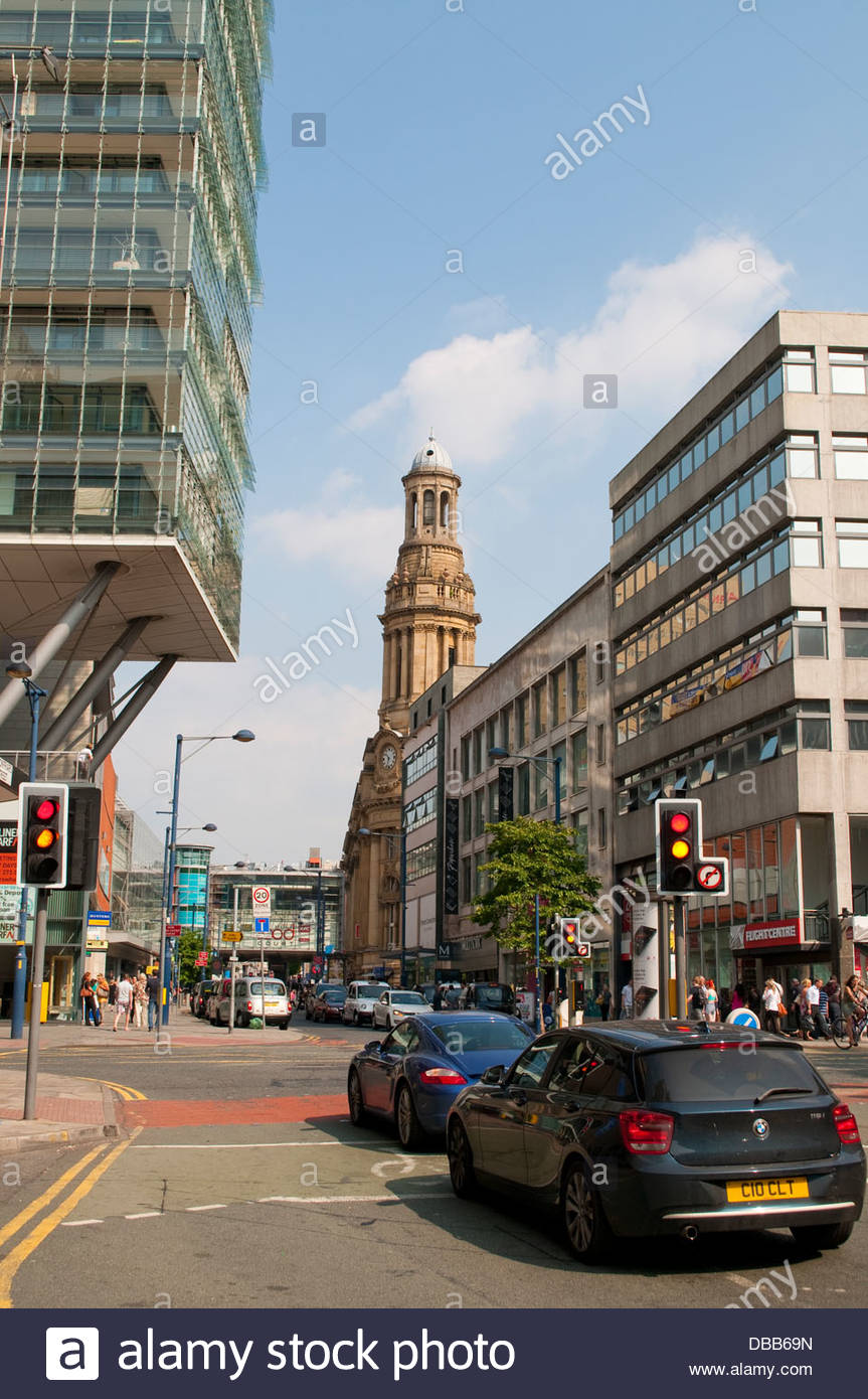 Manchester city centre, UK - Stock Image