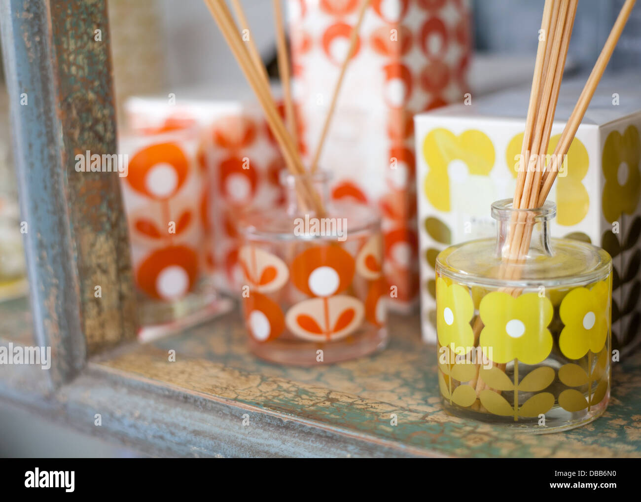 sent diffusers in a shop display - Stock Image