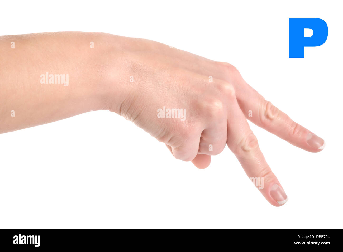 Finger Spelling The Alphabet In American Sign Language Asl The Letter P