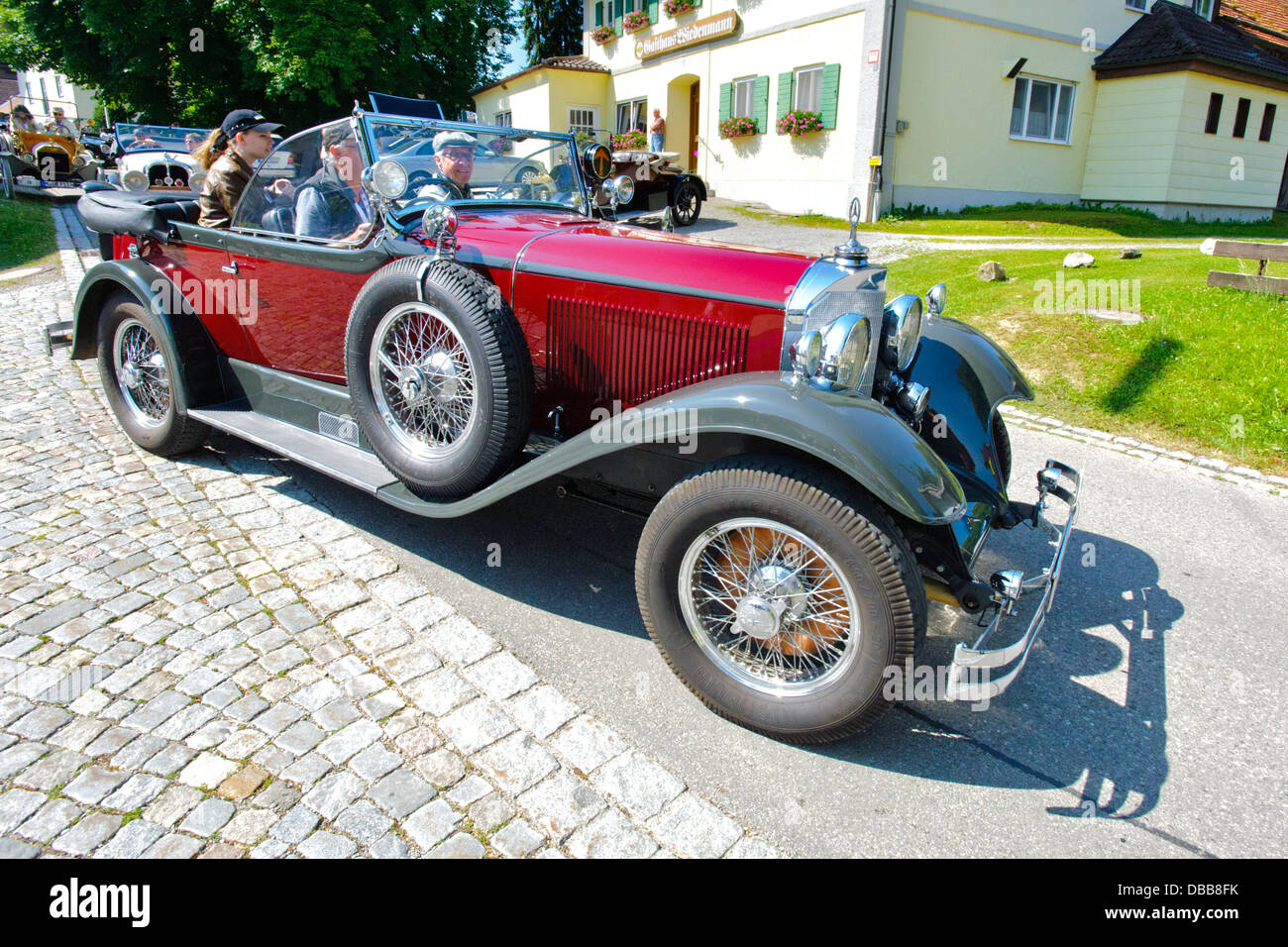 Oldtimer rallye for at least 80 years old antique cars with Mercedes ...