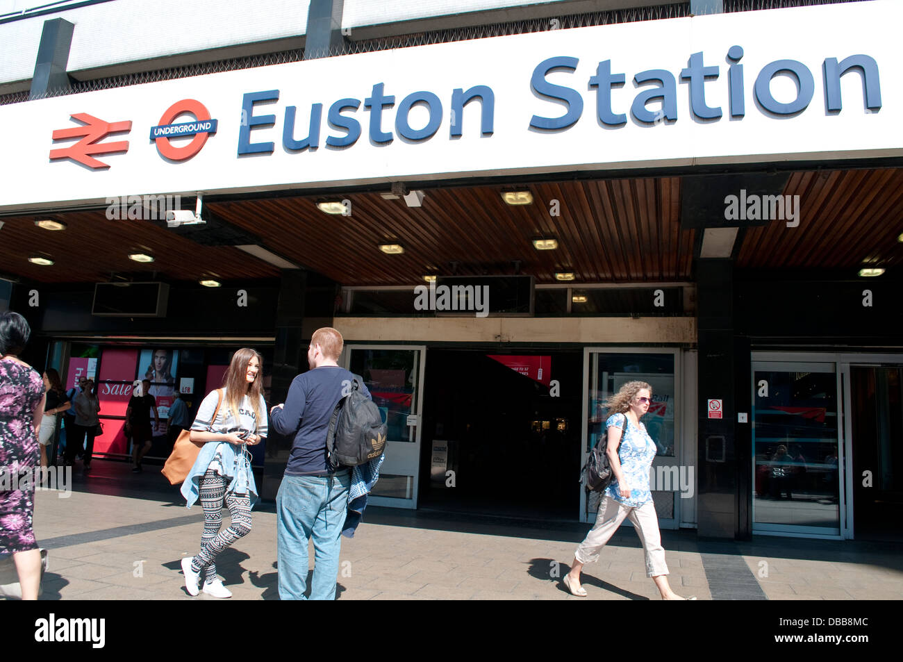 Euston Station, London, UK - Stock Image