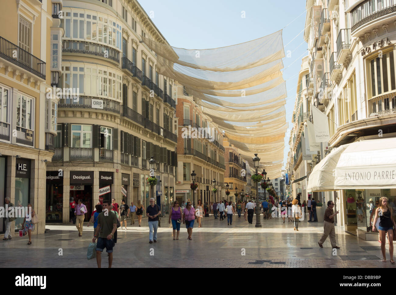 Shops In Malaga City Centre Spain With The Main Shopping