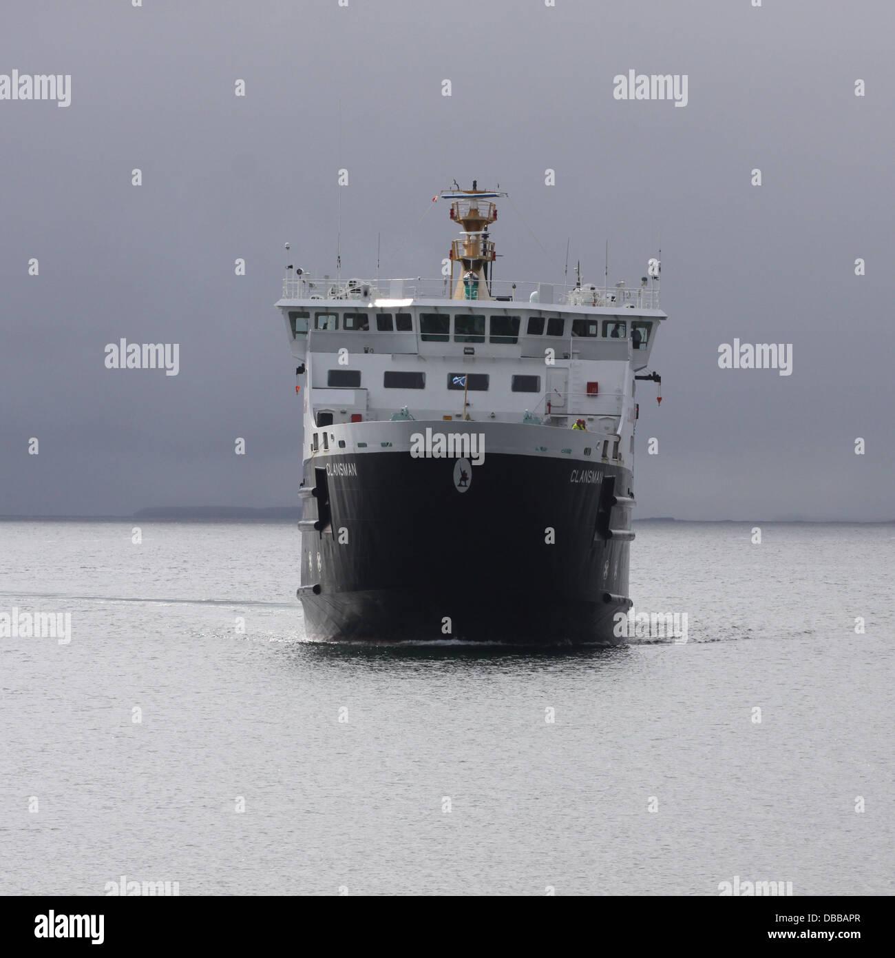 Calmac ferry Clansman at sea Scotland  July 2013 Stock Photo