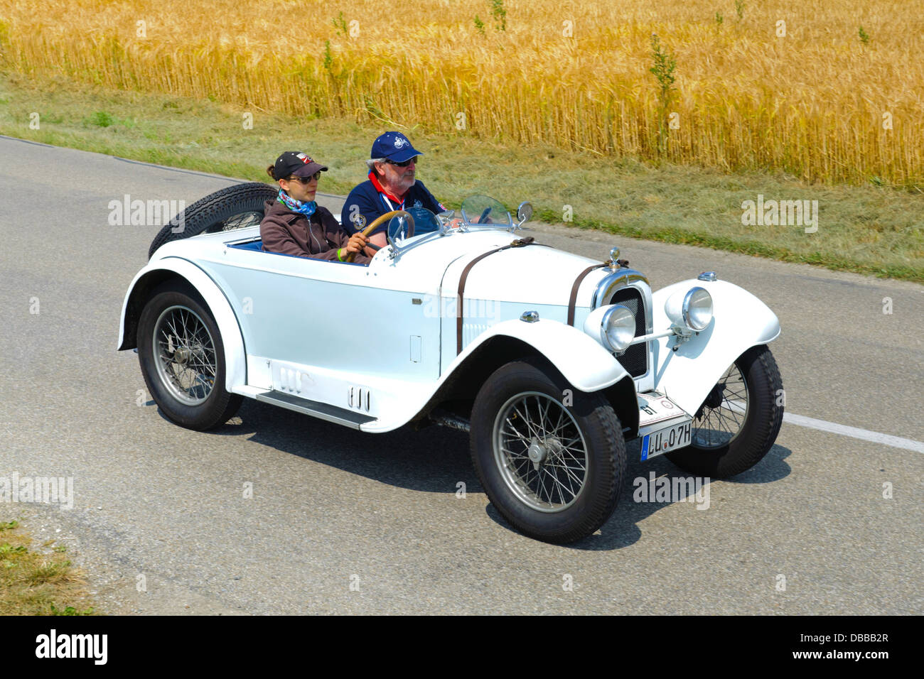 Oldtimer rally for at least 80 years old antique cars with Aero 10, built at year 1929 - Stock Image