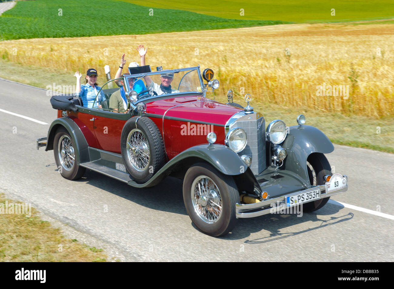 Oldtimer rally for at least 80 years old antique cars with Mercedes ...