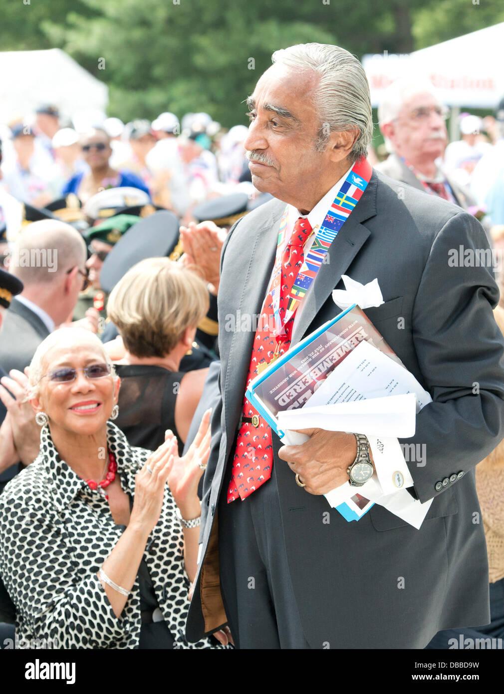 Washington DC, USA. 27th July 2013. United States Representative Charlie Rangel (Democrat of New York) stands when - Stock Image