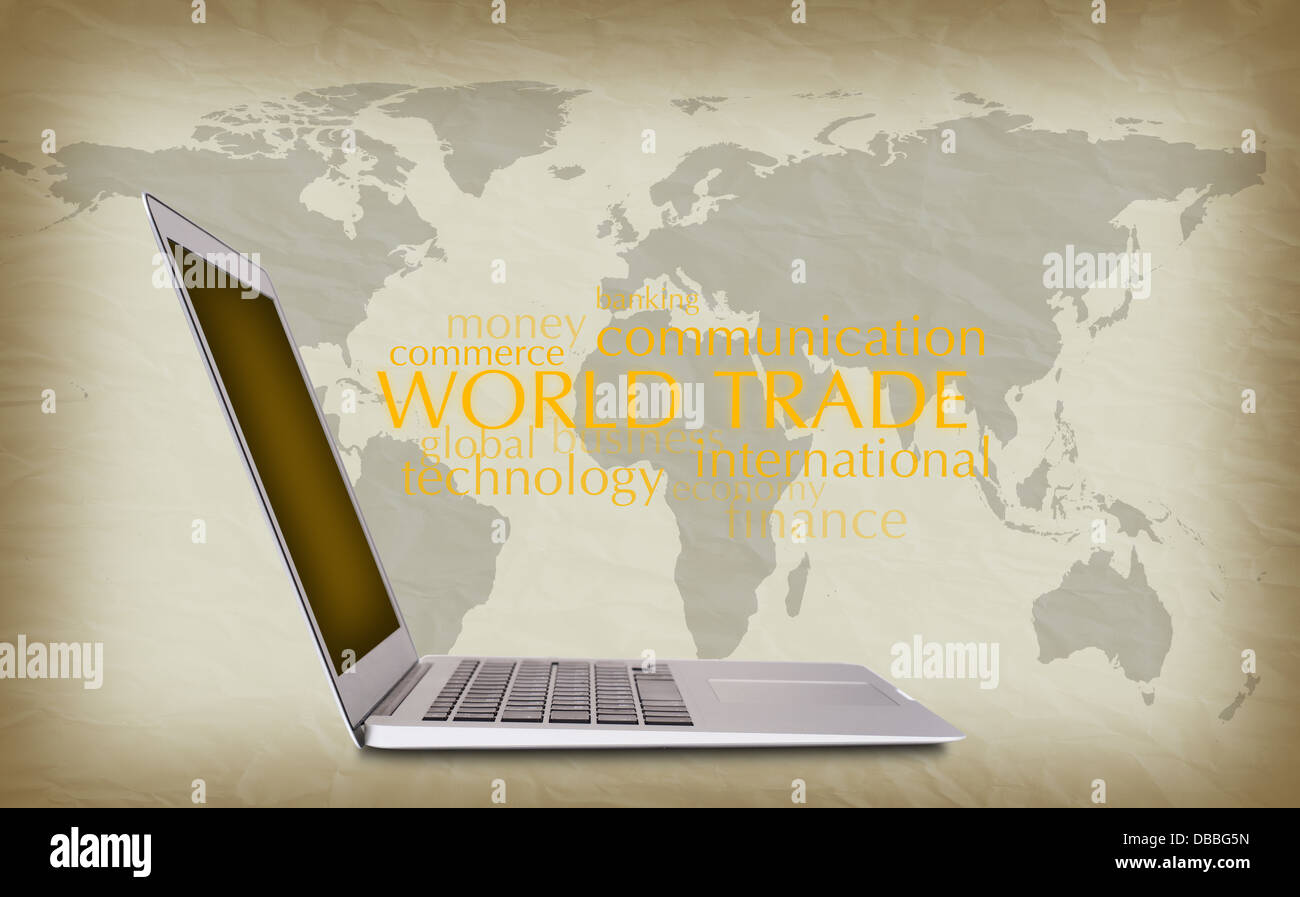 concept of international trade - Stock Image