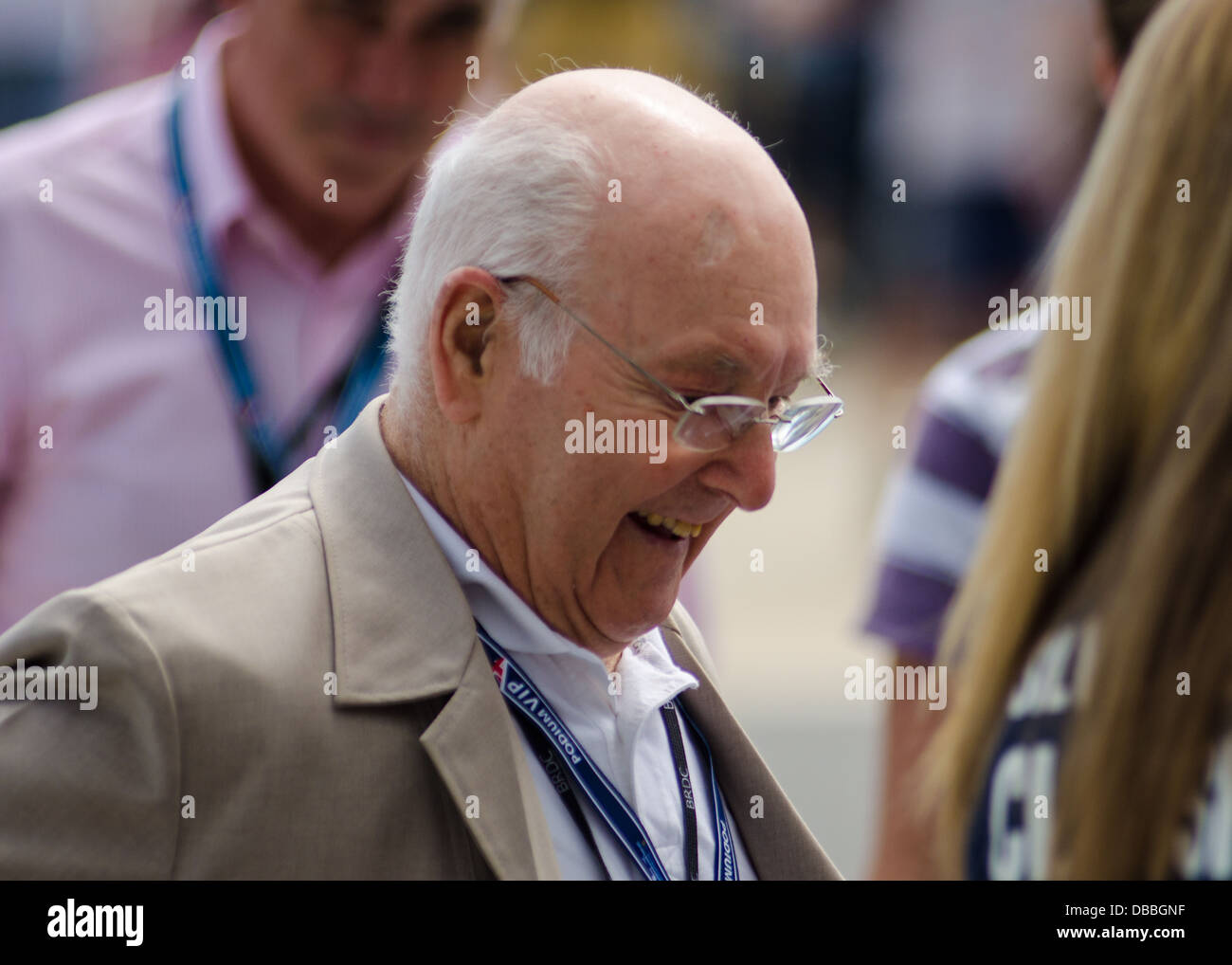 Murray Walker at the Silverstone Classic 27/07/2013 - Stock Image