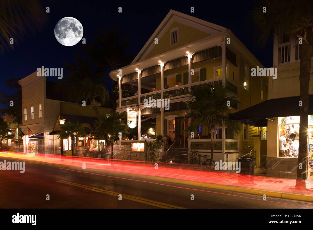 Duval Street Night Key West Stock Photos & Duval Street Night Key ...