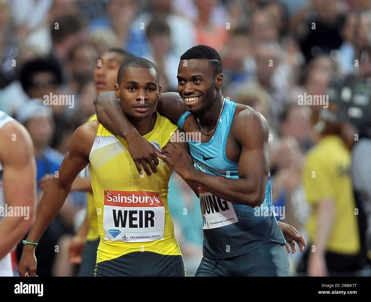 Diamond League race Jamaica in 200m with Weir and Jason