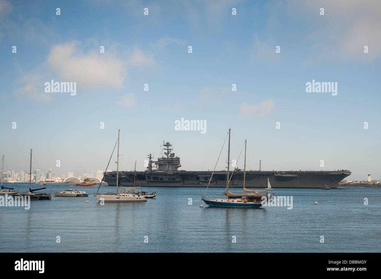 Sept. 20, 2011 - San Diego, California, United States - The USS Abraham Lincoln, the fifth Nimitz-class nuclear - Stock Image