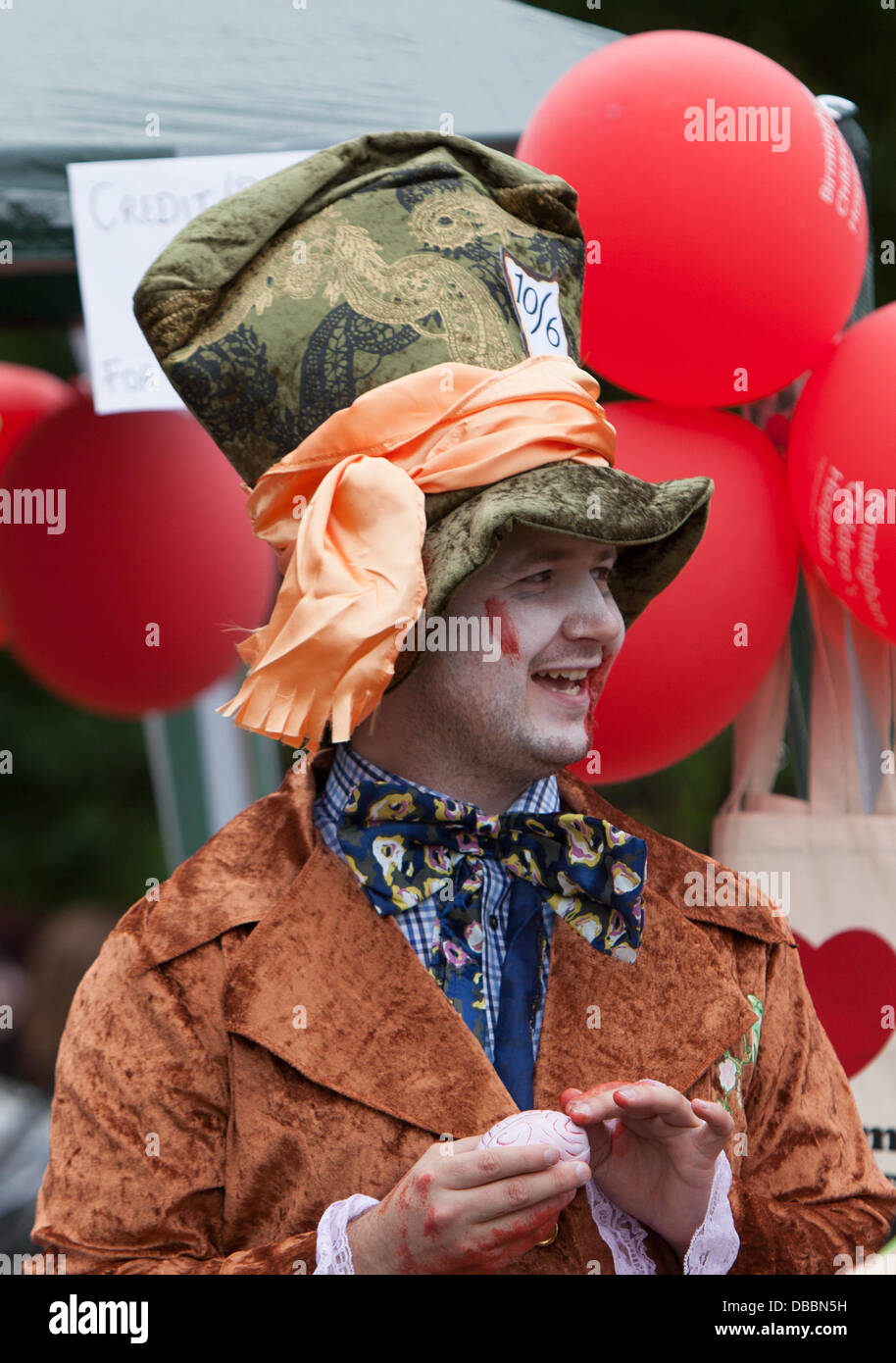 Mad hatter fancy dress stock photos mad hatter fancy for Mitchell s fish market birmingham