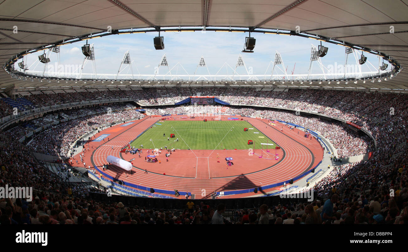 London, UK. 27th July, 2013. View of the Stadium during the IAAF Diamond League Anniversary Games from the The Olympic Stock Photo