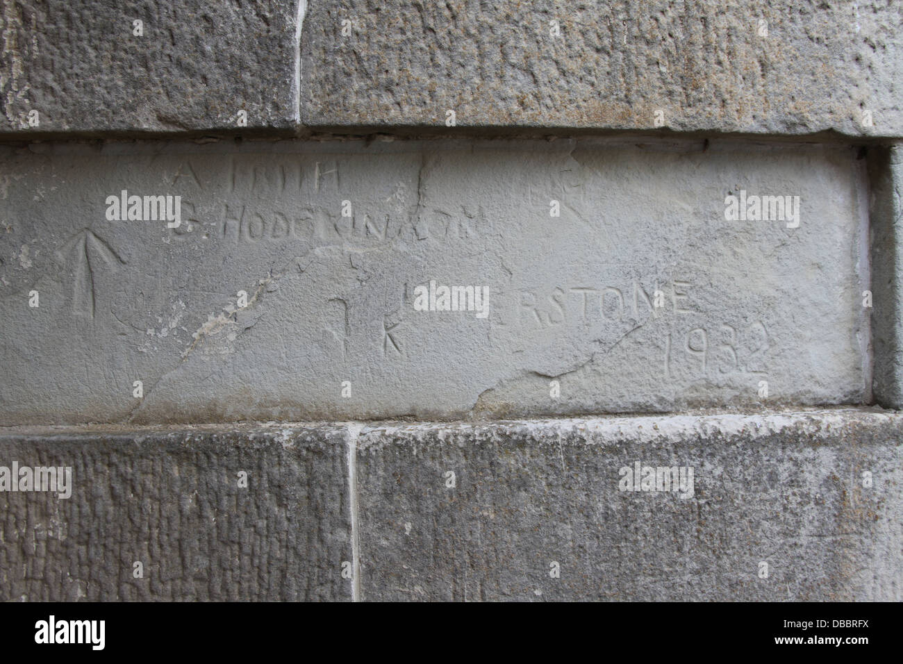 Old Convict Inscription at Port Arthur - Stock Image