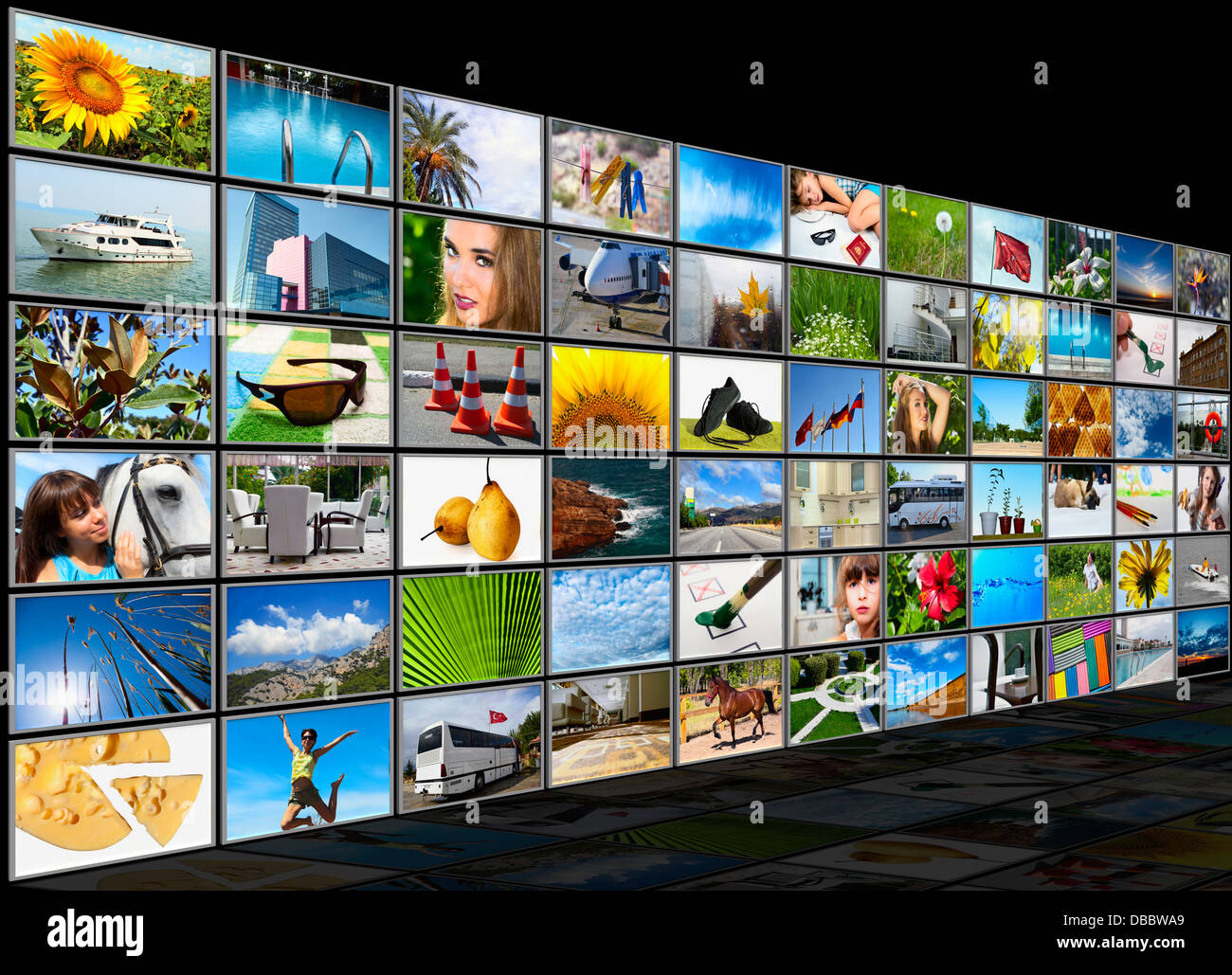 Screens multimedia panel - Stock Image