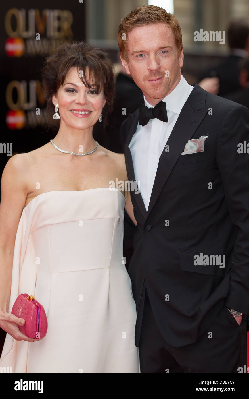 Damian Lewis & Helen Mcrory Attends Olivier Awards 2013 In London on the 28th April 2013 at The Royal Opera - Stock Image