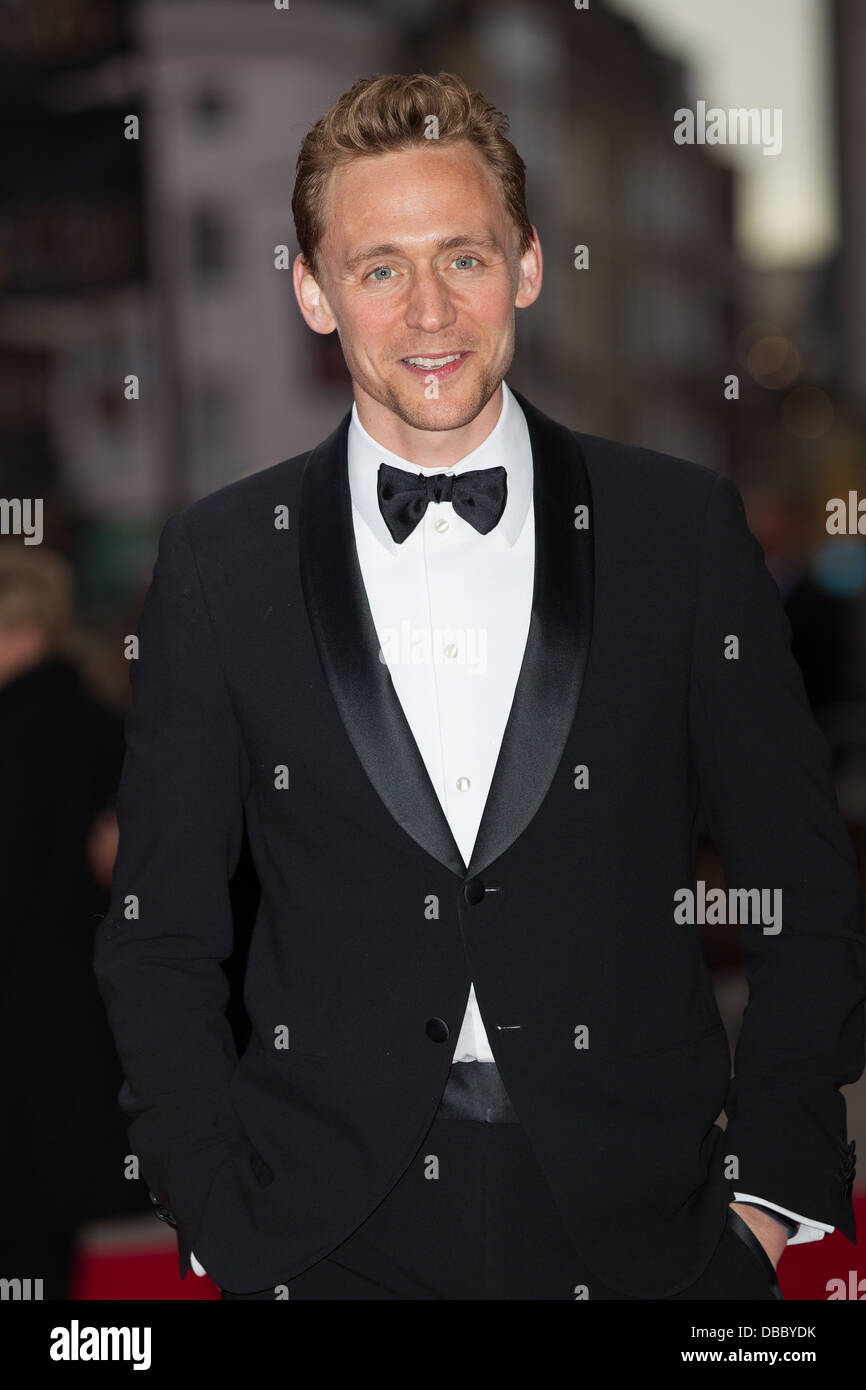 Tom Hiddleston Attends Olivier Awards 2013 In London on the 28th April 2013 at The Royal Opera House. - Stock Image