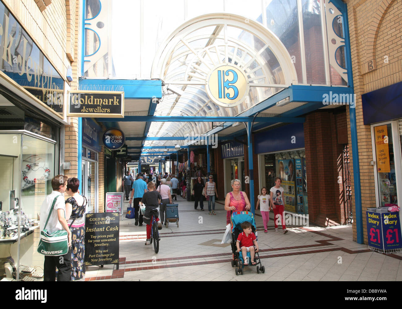People Britten shopping Centre Lowestoft, Suffolk, England - Stock Image